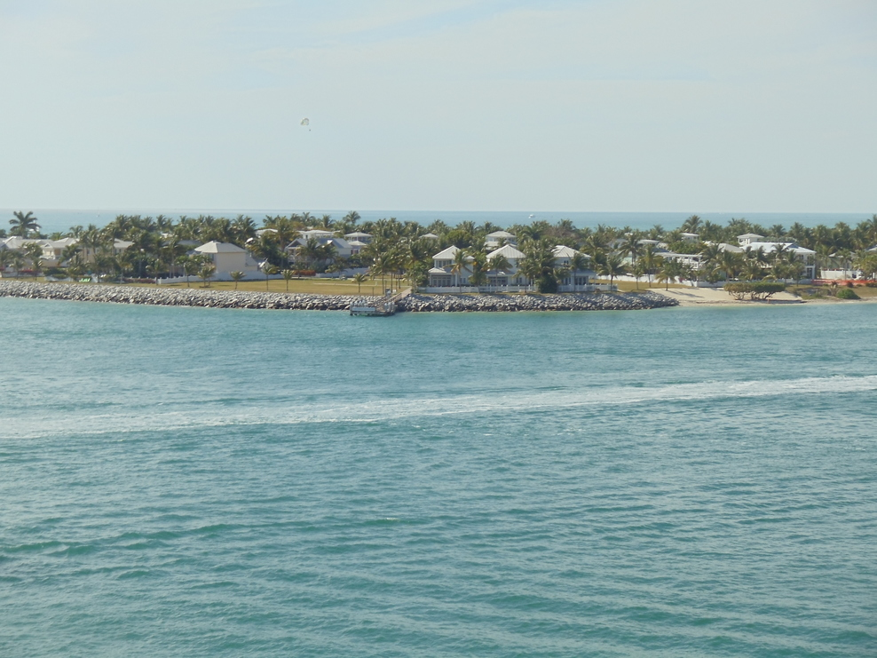 view from veranda coming into Key West