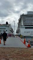 Norwegian Spirit and Escape docked in Tortola