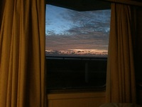 Sunrise from bed.