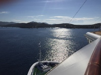 Arriving in St. Thomas, view from the balcony.