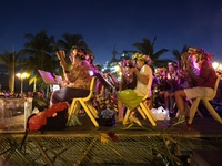 Saturday night musical event at the Papeete waterfront.