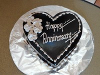 Anniversary cake we had delivered to the room. Well worth the $.