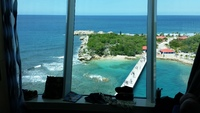Docked in Labadee, Haiti.  View from cabin