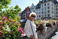 My wife while in Strasbourg, France