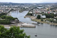 Koblenz, Germany from the tram taking us to the fort across the Rhine