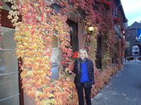Juana on wine tasting excursion into small town on the Mosel River.