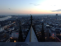 Optional tour to the top of the cathedral in Cologne.