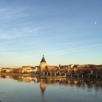 Approaching Libourne on a lovely December day.