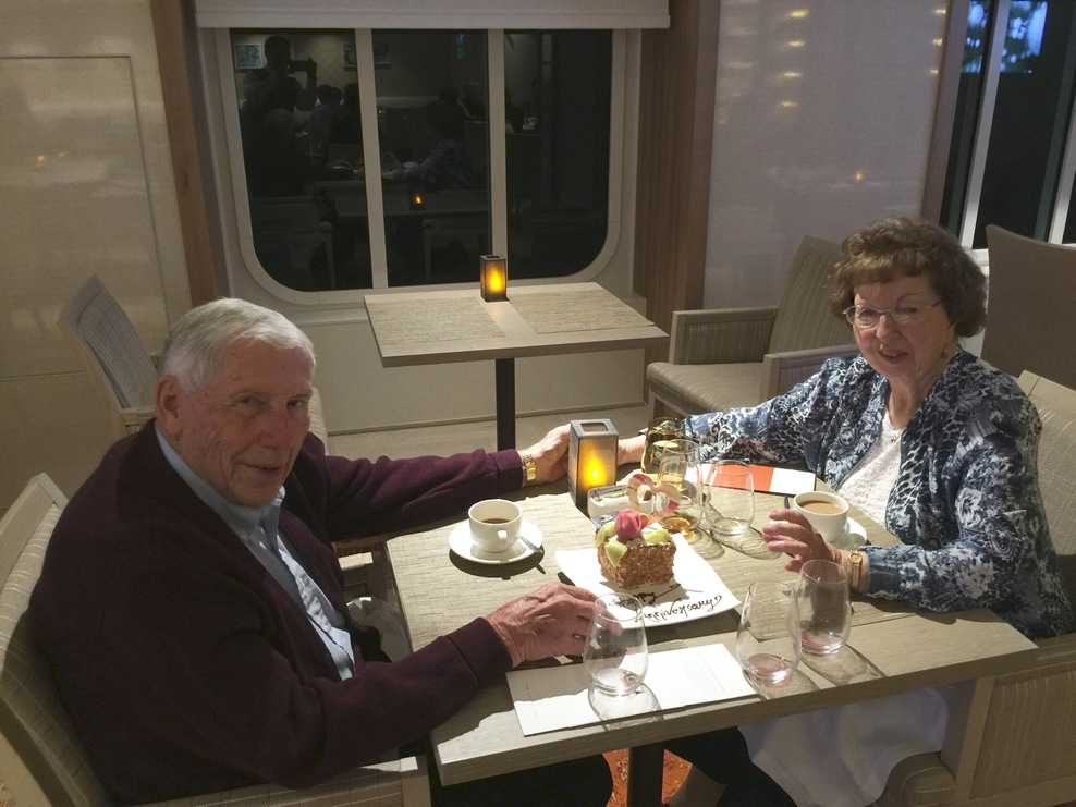 Our 66th Anniversary Dinner on the Viking Star