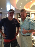 With the artist of the ship, Guy Harvey.