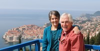 At a lookout point outside of Dubrovnik, Croatia. Our excursion,