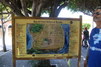 Mazatlan map.  Canadian volunteer explaining it to us!