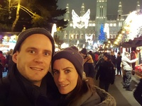 Spending time in one of the Christmas Markets of Vienna, Austria!