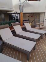 New deck chairs in the Solarium...comfy!!