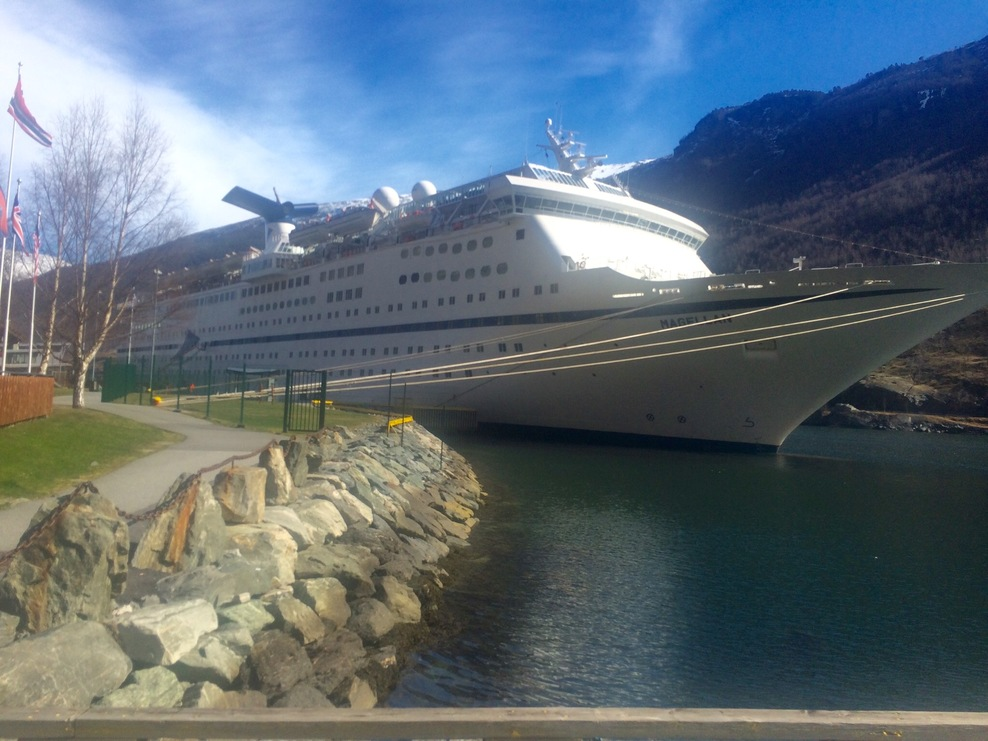 Ship docked at Flam