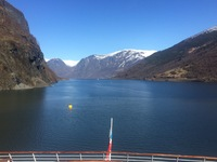 Fjord view as we sailed