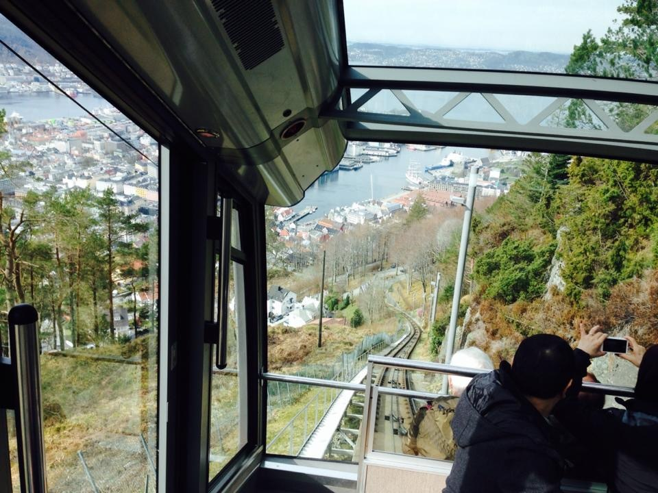 View from funicular railway at Bergen