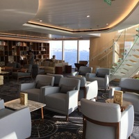 Explorers Lounge, our favorite place to hide out on a ship full of people