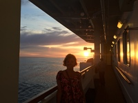 Nice sunset at sea on last night of the 15 days cruise.