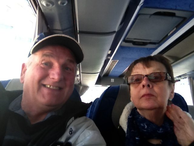 The wife and I are going on a coach trip to France.