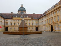 Courtyard at the Melk Abbey