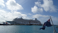 The Symphony in Bermuda from the ferry to Hamilton.