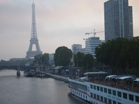 Viking Lif docked in Paris.