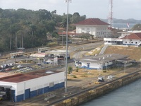Gatun Locks buildings, Panama Canal