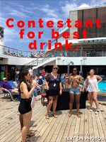 I tried out for a contest creating a new drink to be served on the ship for the cruise