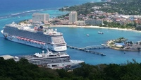 The Spirit and the Getaway at dock in Ocho Rios Jamaica.