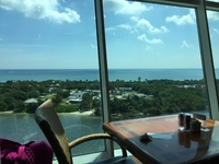 View from Windjammer Cafe on ship