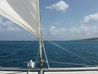sailing in Barbados