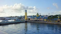 View from the ship of Nassau's port.