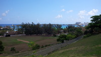View from Fort Charlotte, Nassau out towards the cruise port and Paradise I