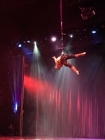 Aerialist during production show.