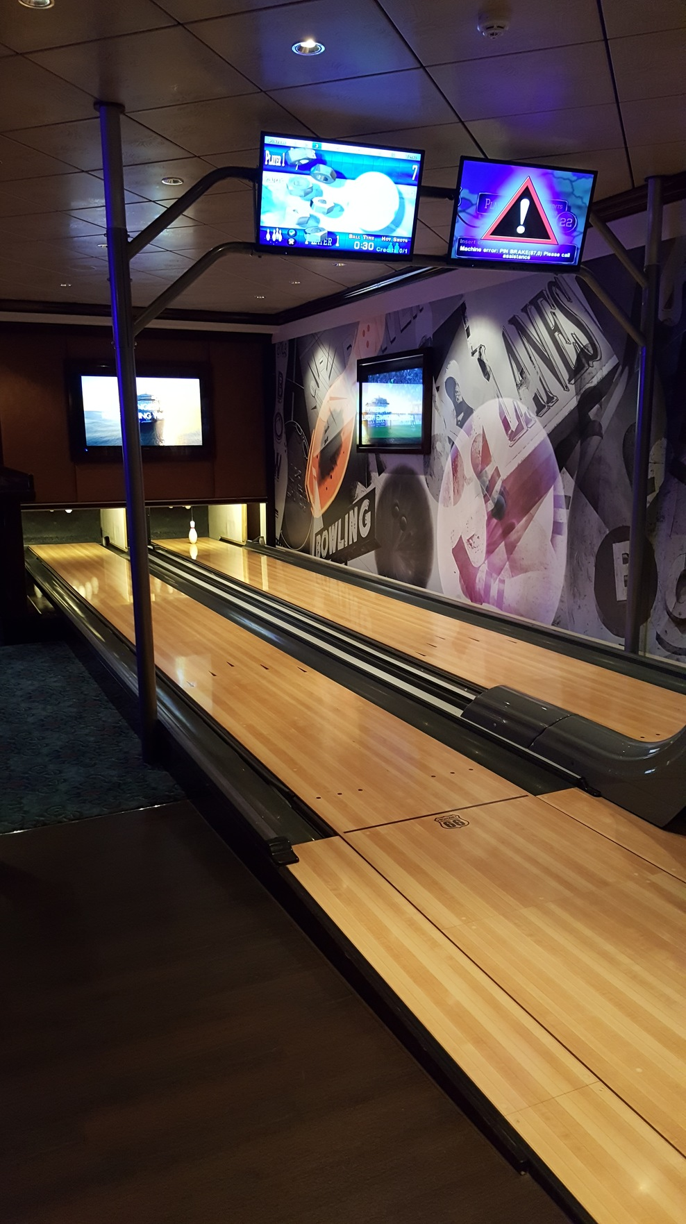 Bowling alleys. For a fee, of course.