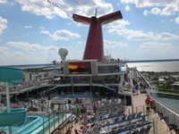 Carnival Victory from the sky deck