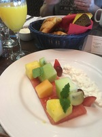 Fruit plate. Sea day brunch.