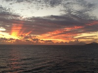 Beautiful sunrise near Saint Maarten