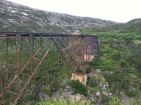 The train ride was a bit scary because we were so close to the edge