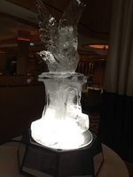 ice sculpture, main dining room midnight buffet