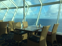 View from inside Windjammer Cafe