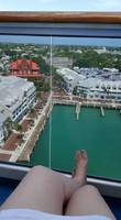 Enjoying the view on our balcony viewing Key West.