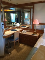 Vanity desk in suite