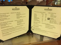 International coffee shop menu