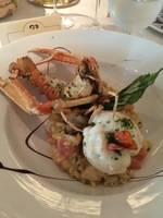 Seafood risotto from the chefs dinner