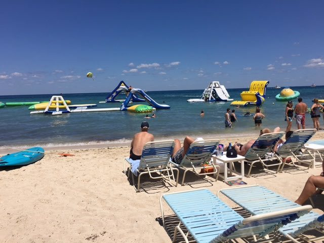 Paradise Beach Club. Great beach for kids.