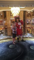 daughter with Capt. Hook on 4th floor atrium