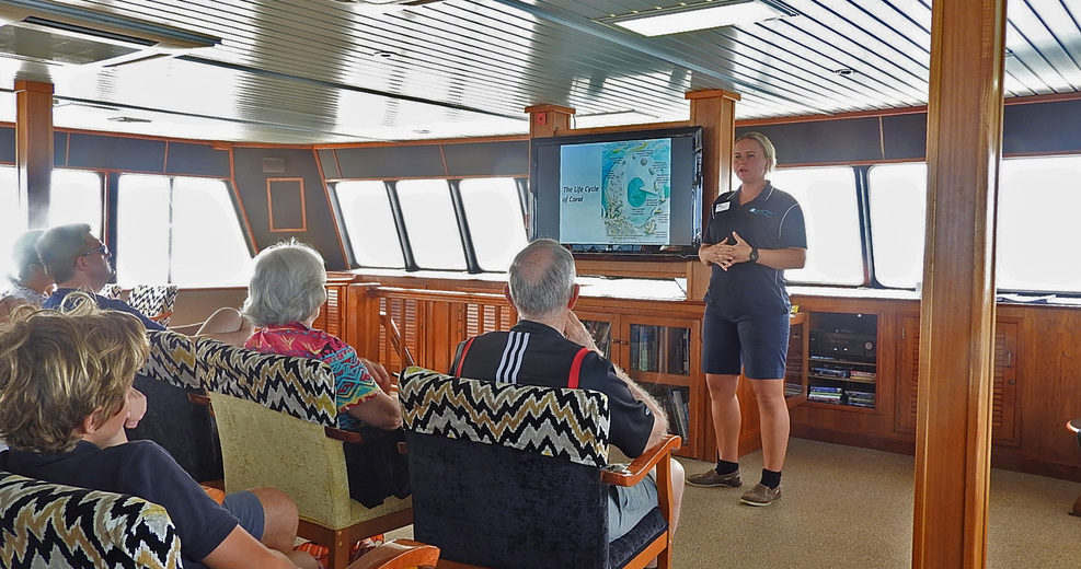 Lectures on the reef and reef life.