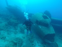 Bodrum on a C-47 aircraft sunken for diving.